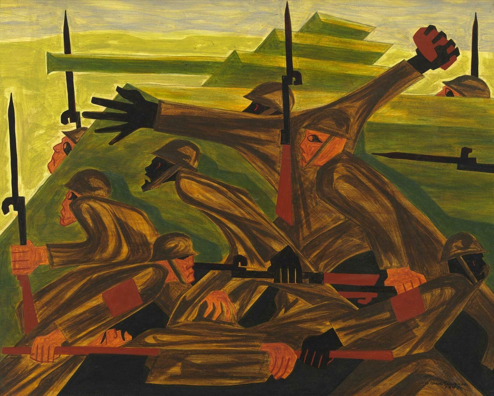 Jacob Lawrence | War Series: Beachhead | Whitney Museum of American Art