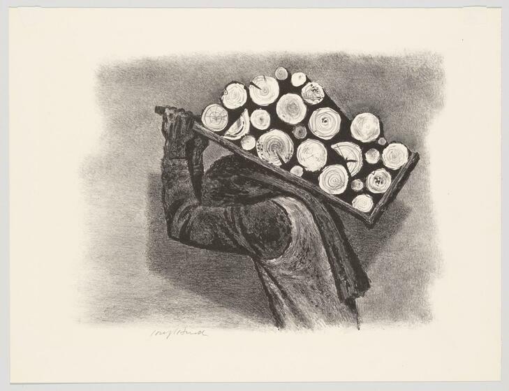 Joseph Hirsch | Man with Logs | Whitney Museum of American Art