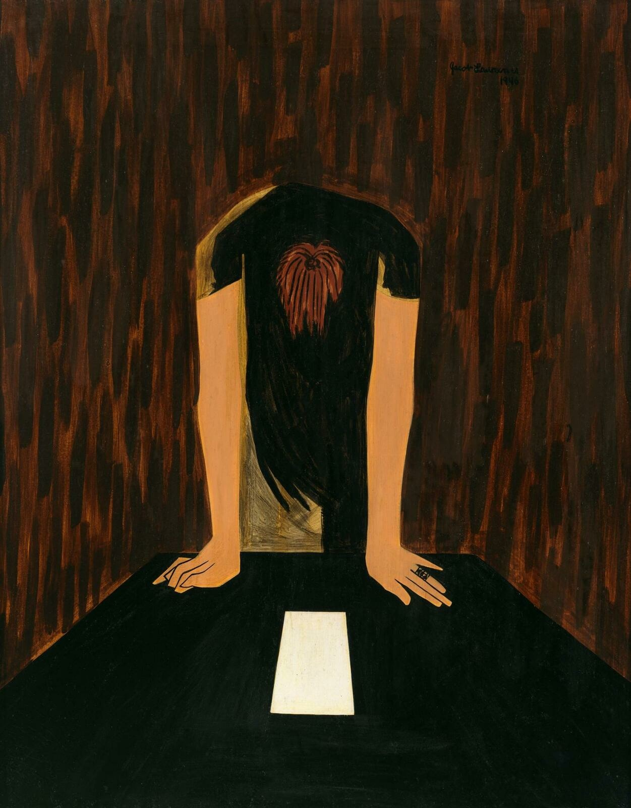 Jacob Lawrence | War Series: The Letter | Whitney Museum of American Art