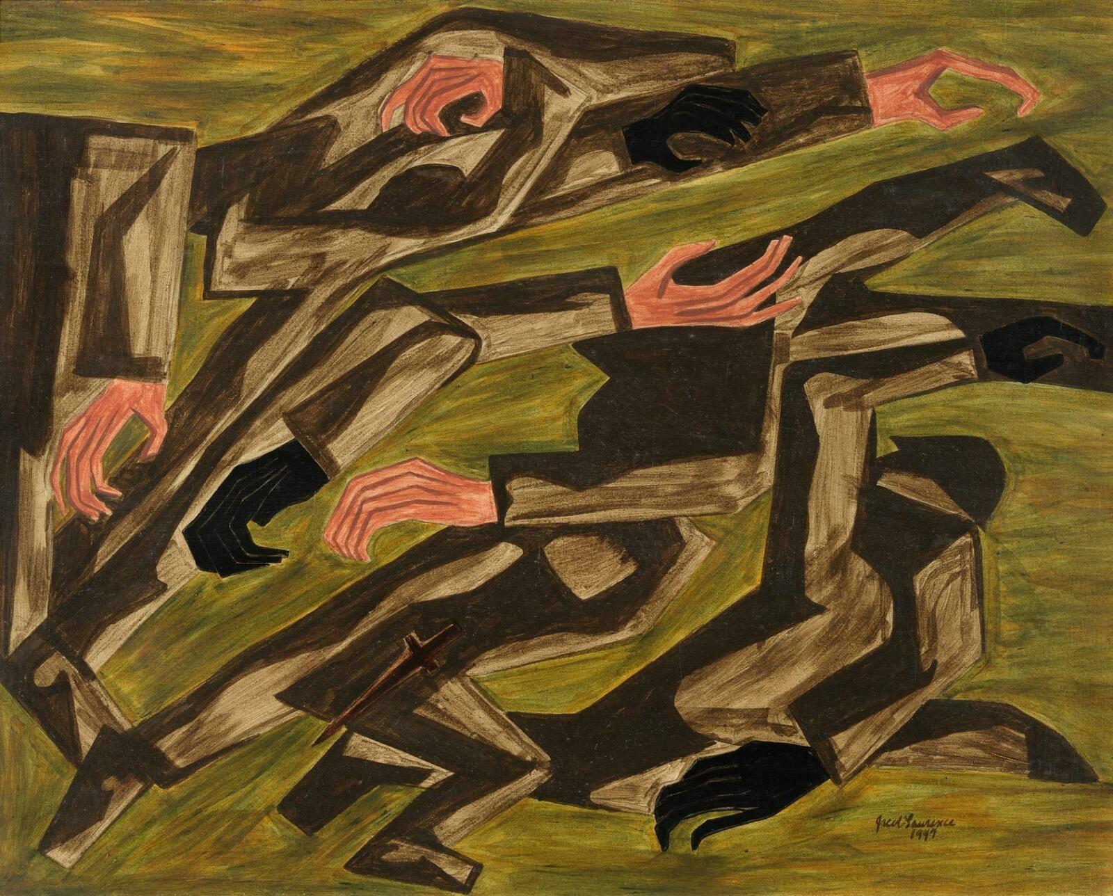 Jacob Lawrence | War Series: Purple Hearts | Whitney Museum of American Art