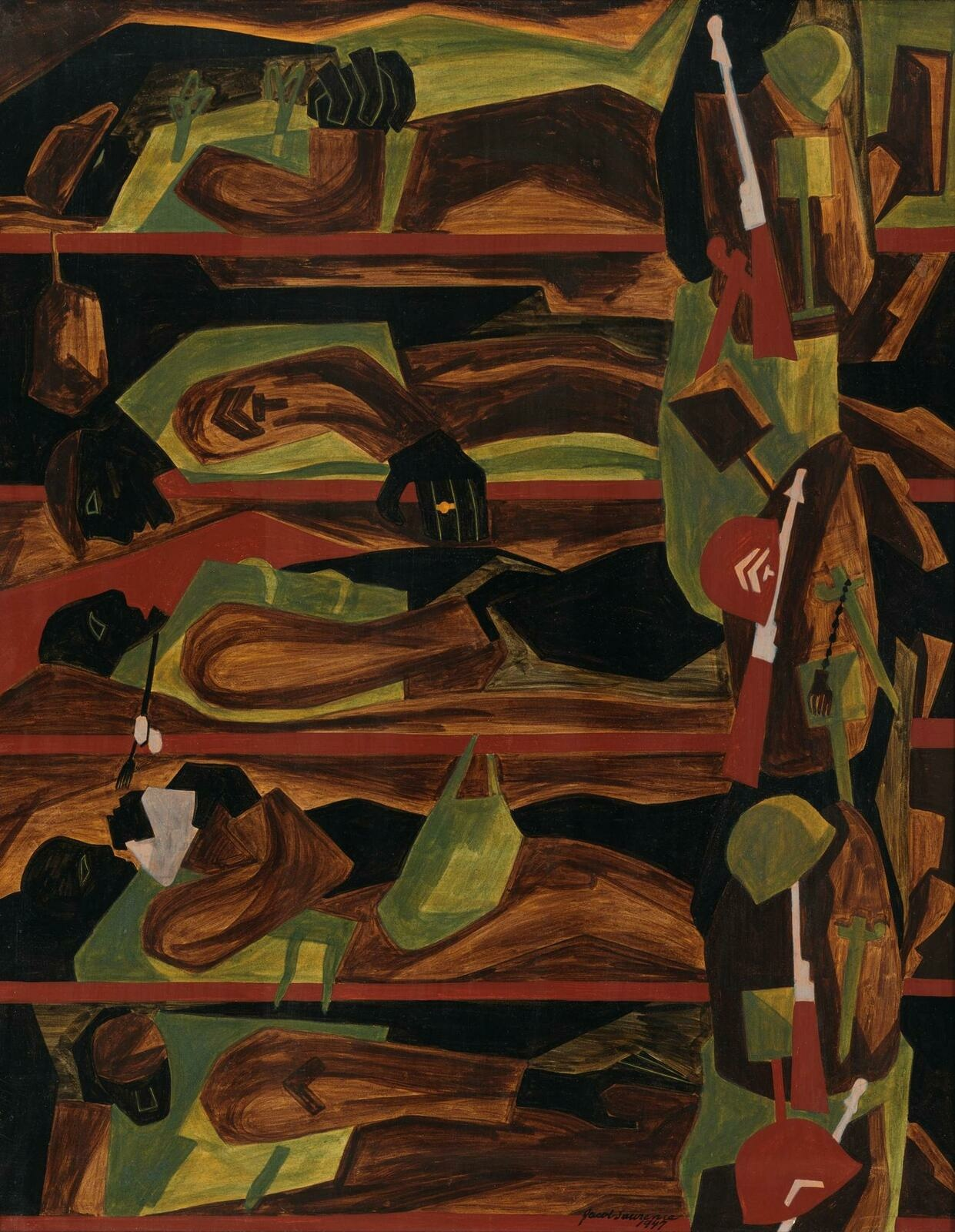 Jacob Lawrence | War Series: Shipping Out | Whitney Museum of American Art
