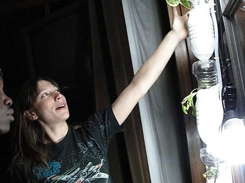 Woman describes inner-workings of Windowfarms.