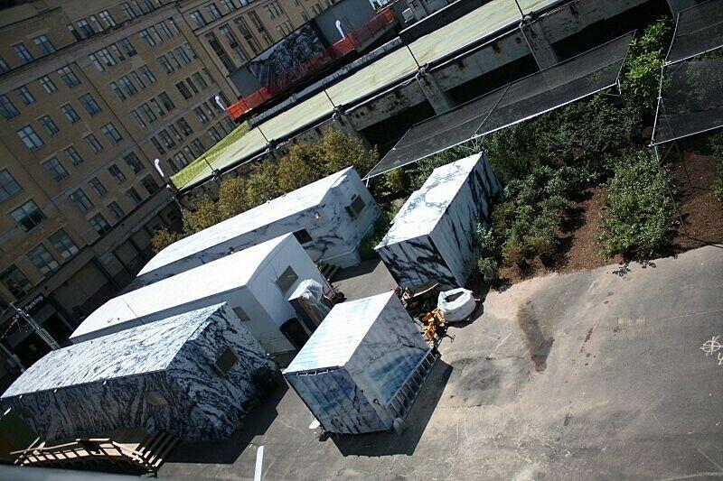 The art installation site