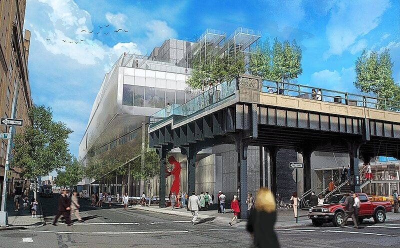 Rendering of the Highline and new Whitney behind it.