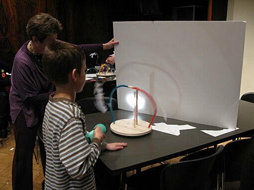 Kids work on an art project.
