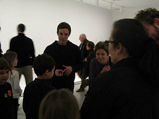 Families in the gallery.