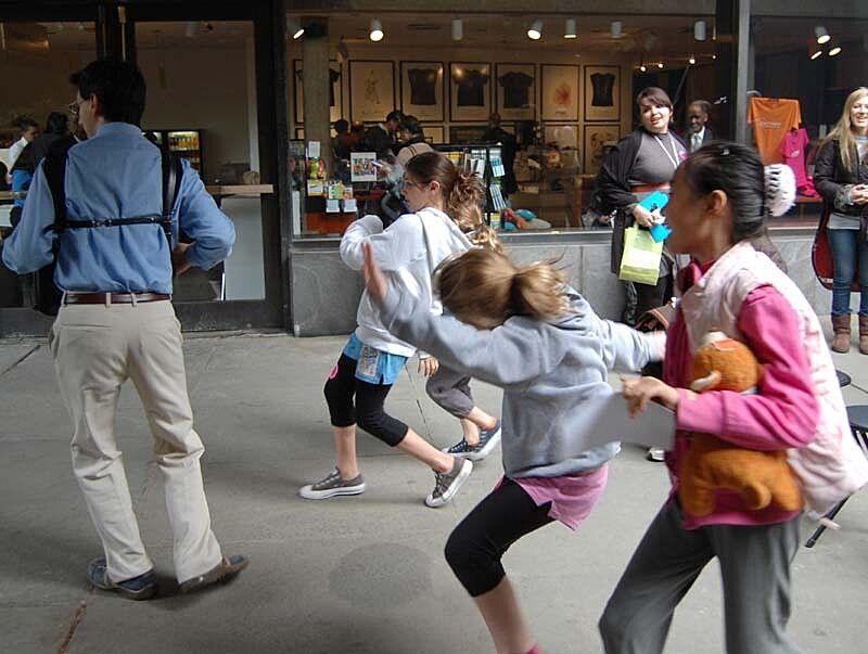 Kids playing around