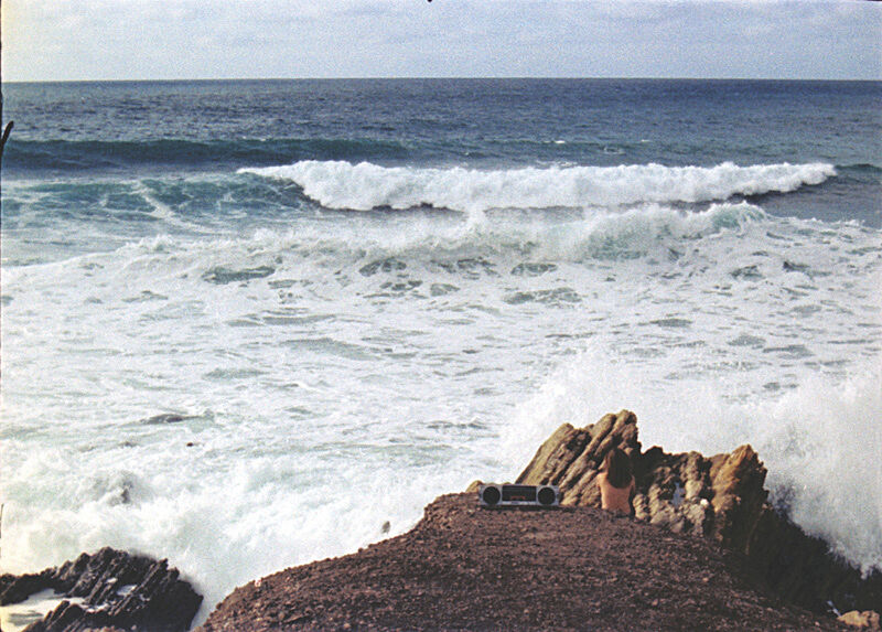 A still from a video of the ocean.