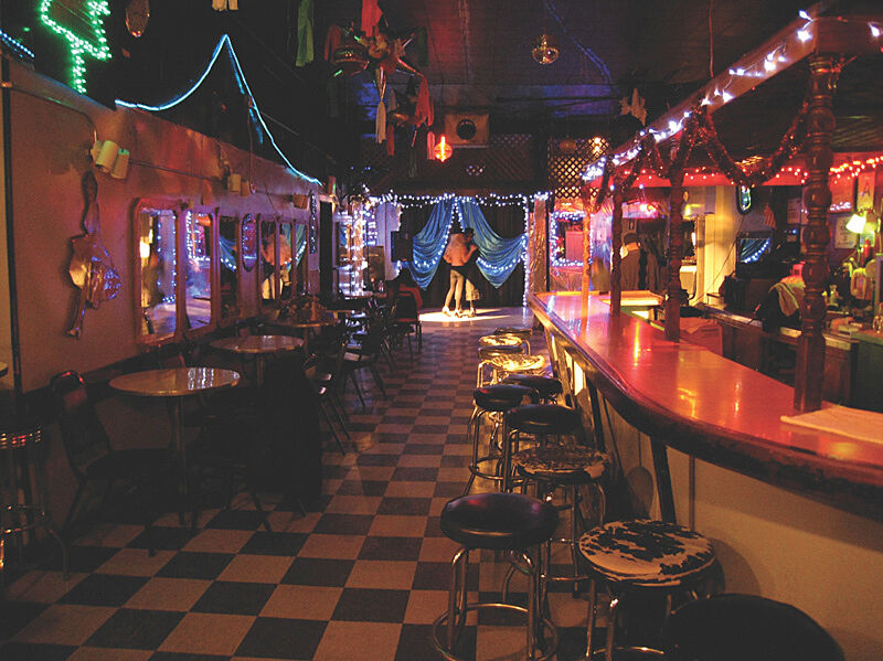 A set in a diner.