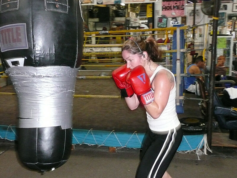 A person boxing.
