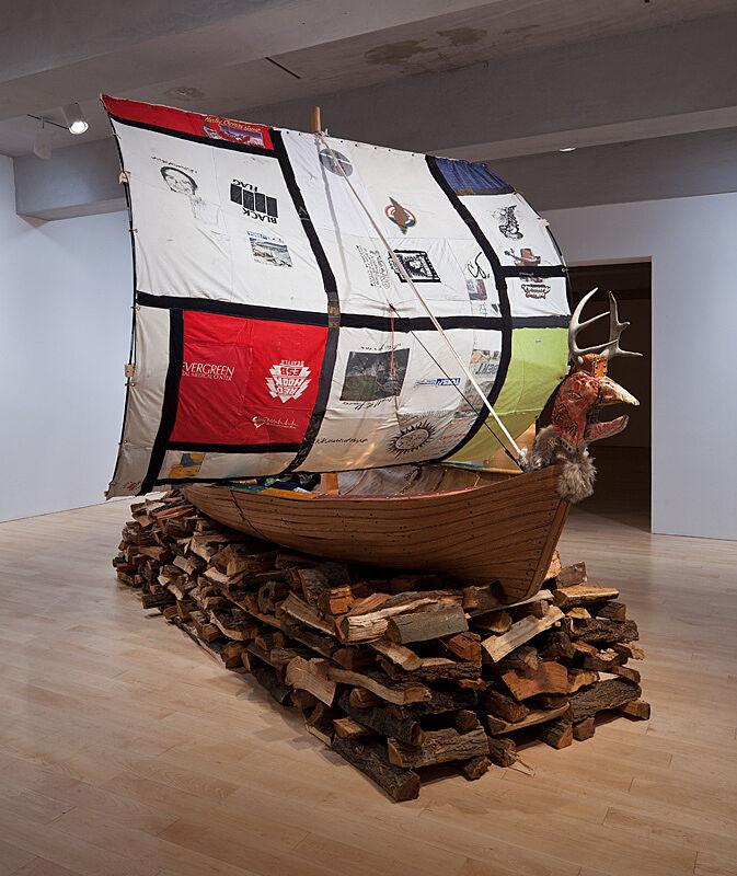 Viking Ship art installation