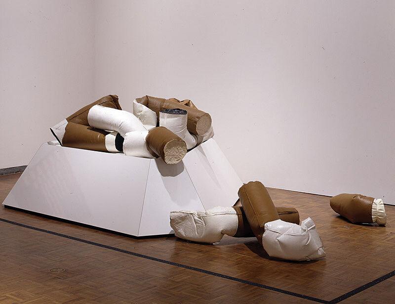 A soft scuplture entitled Giant Fagends by Claes Oldenburg