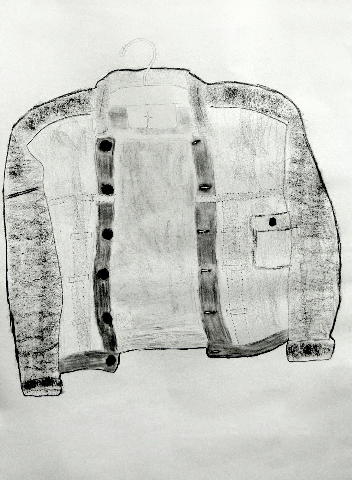 Arif's charcoal jean jacket, May 2013.
