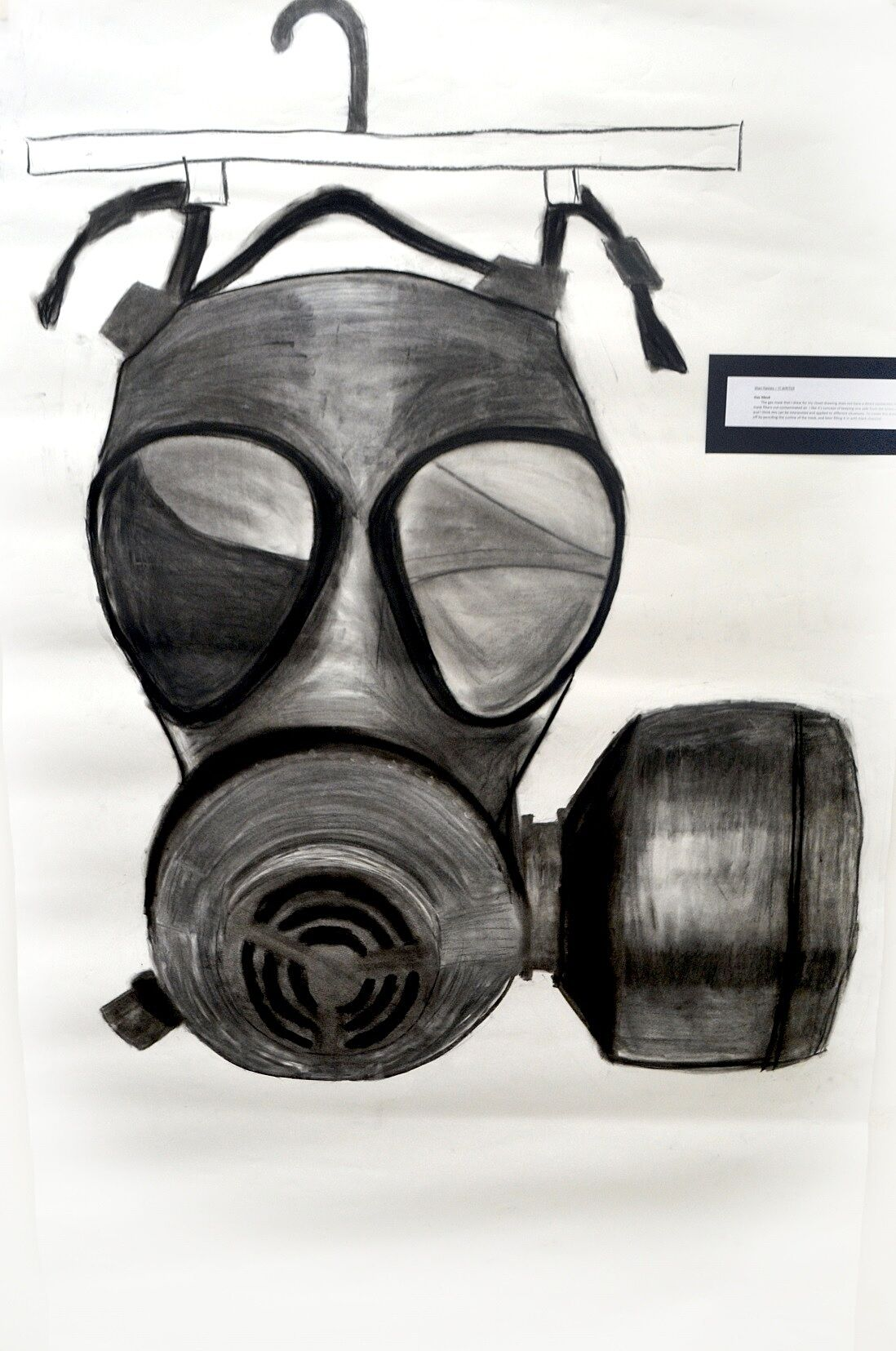Jitan contributes a gas mask to the closet, May 2013.