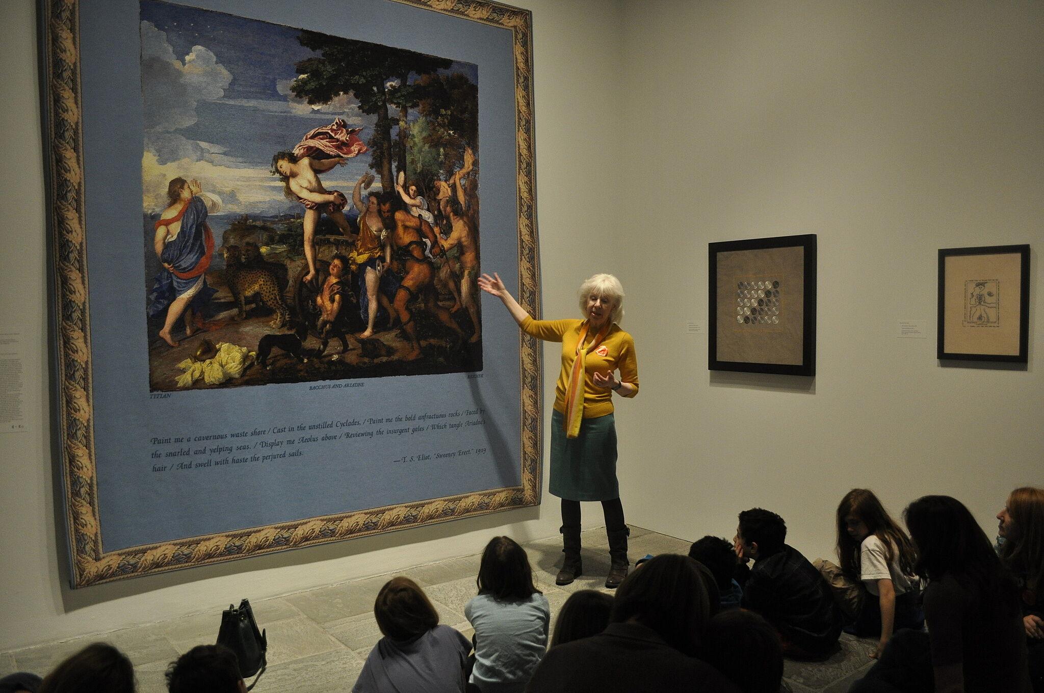 The artist presents her art