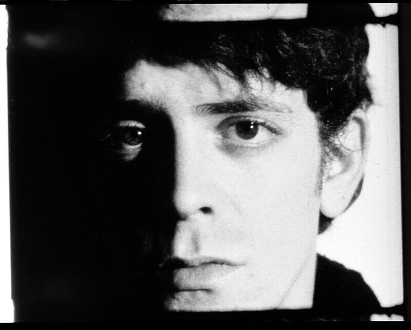 A still of Lou Reed in an Andy Warhol screen test