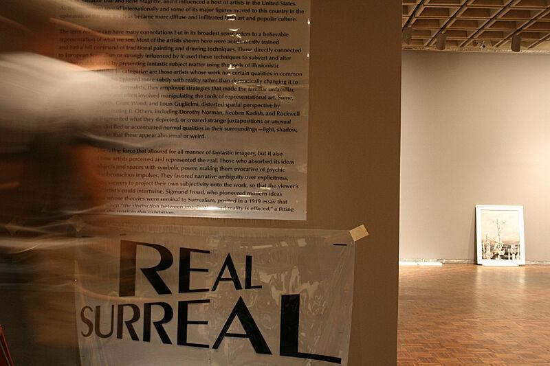 Gallery in mid installation.