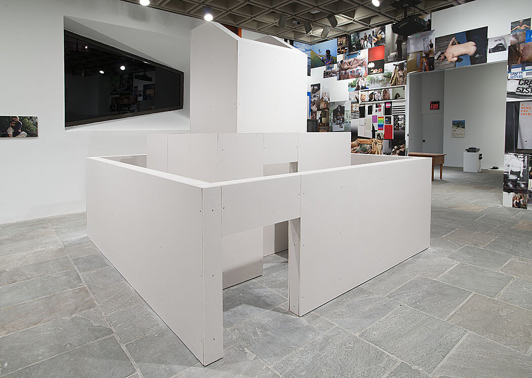 Installation of white architecture.
