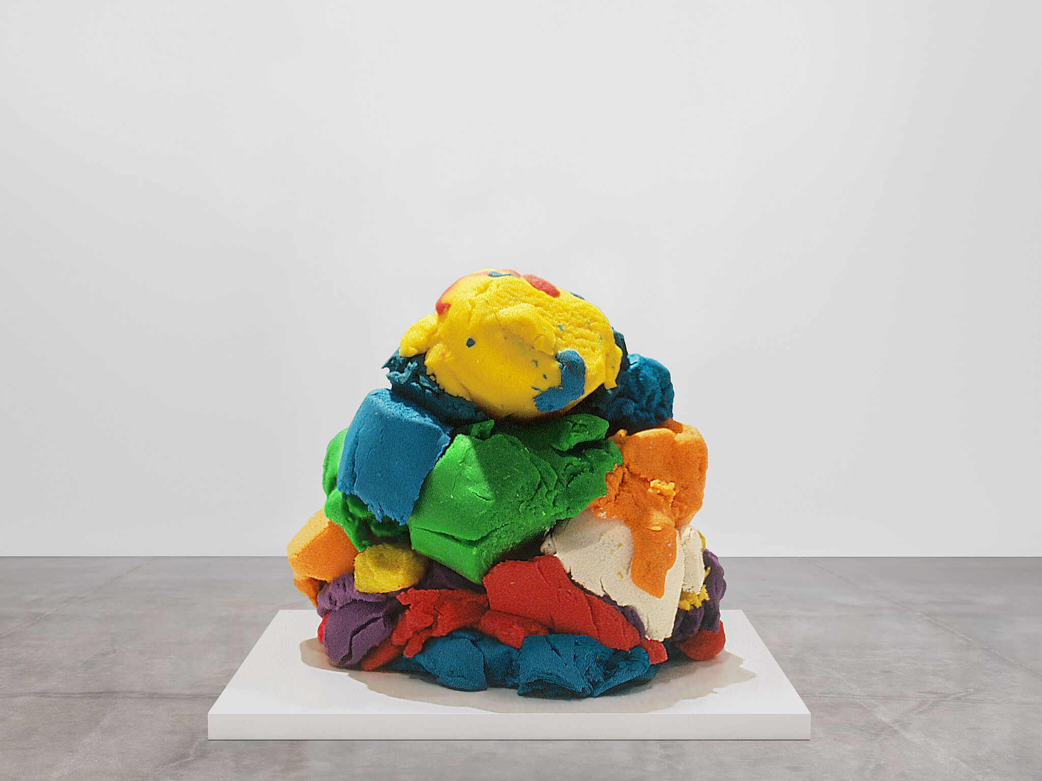 A sculpture shaped like mounds of play-doh.
