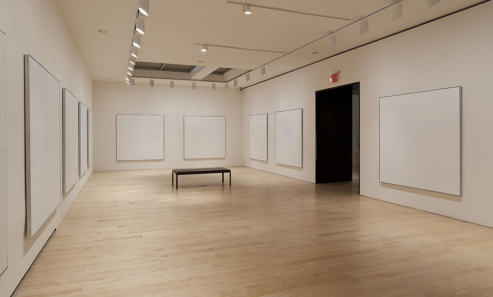 An art exhibit in a gallery