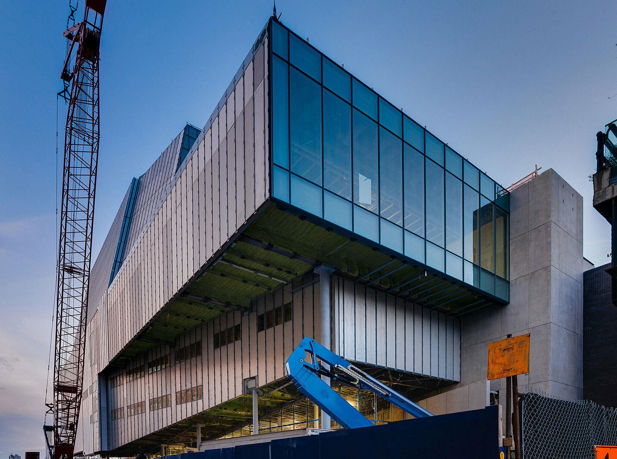 Entrance facade of the Whitney.