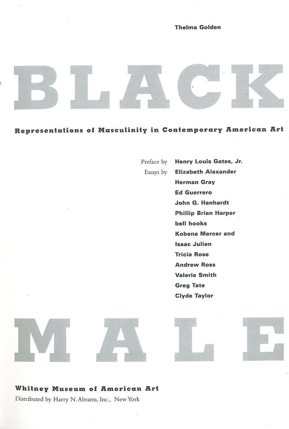 List of artists for Black Male exhibit