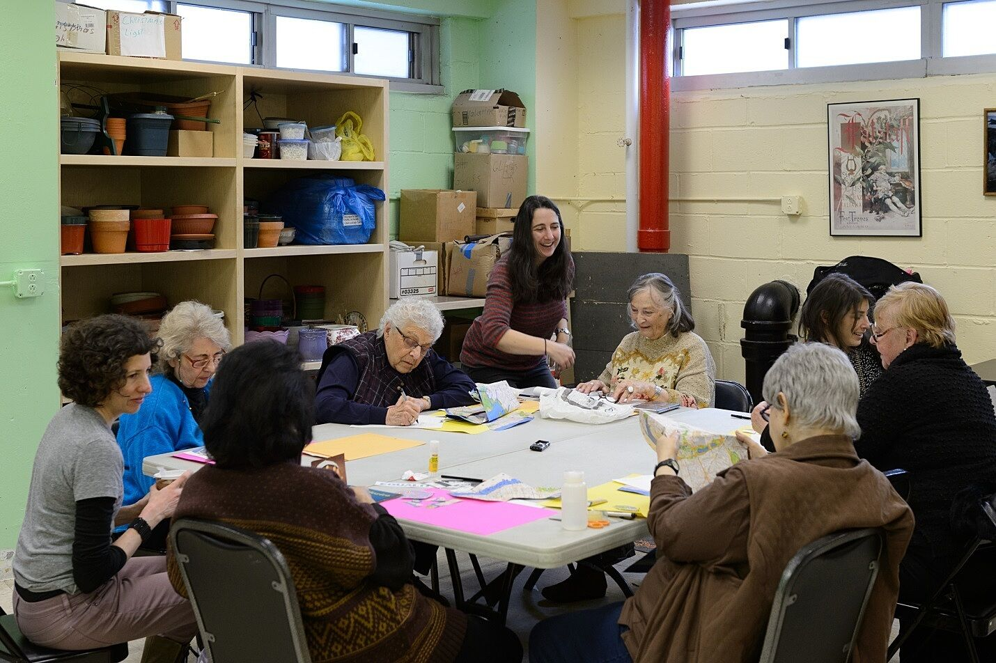 A map workshop at a senior center in New York