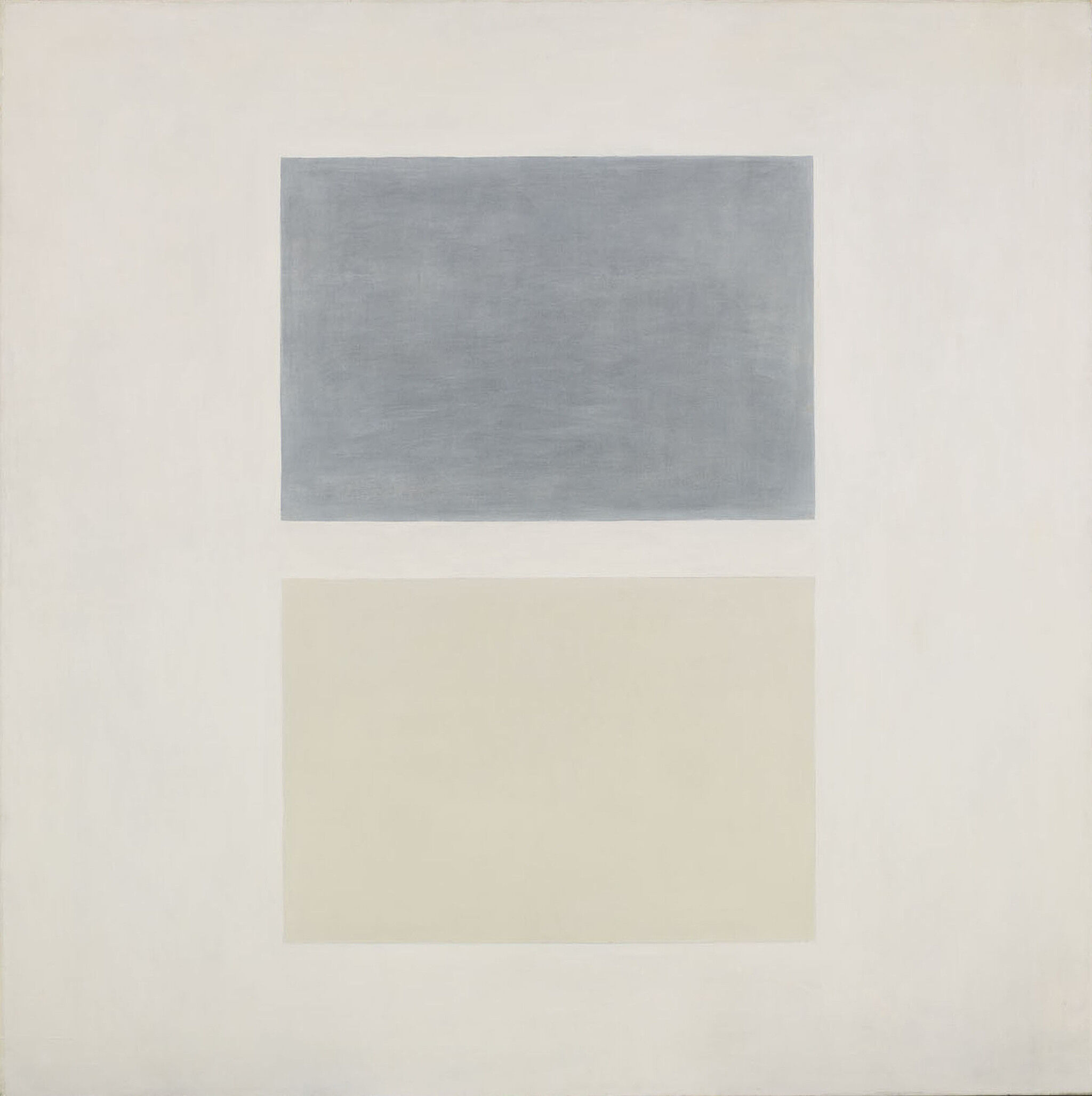 A painting of two rectangles.