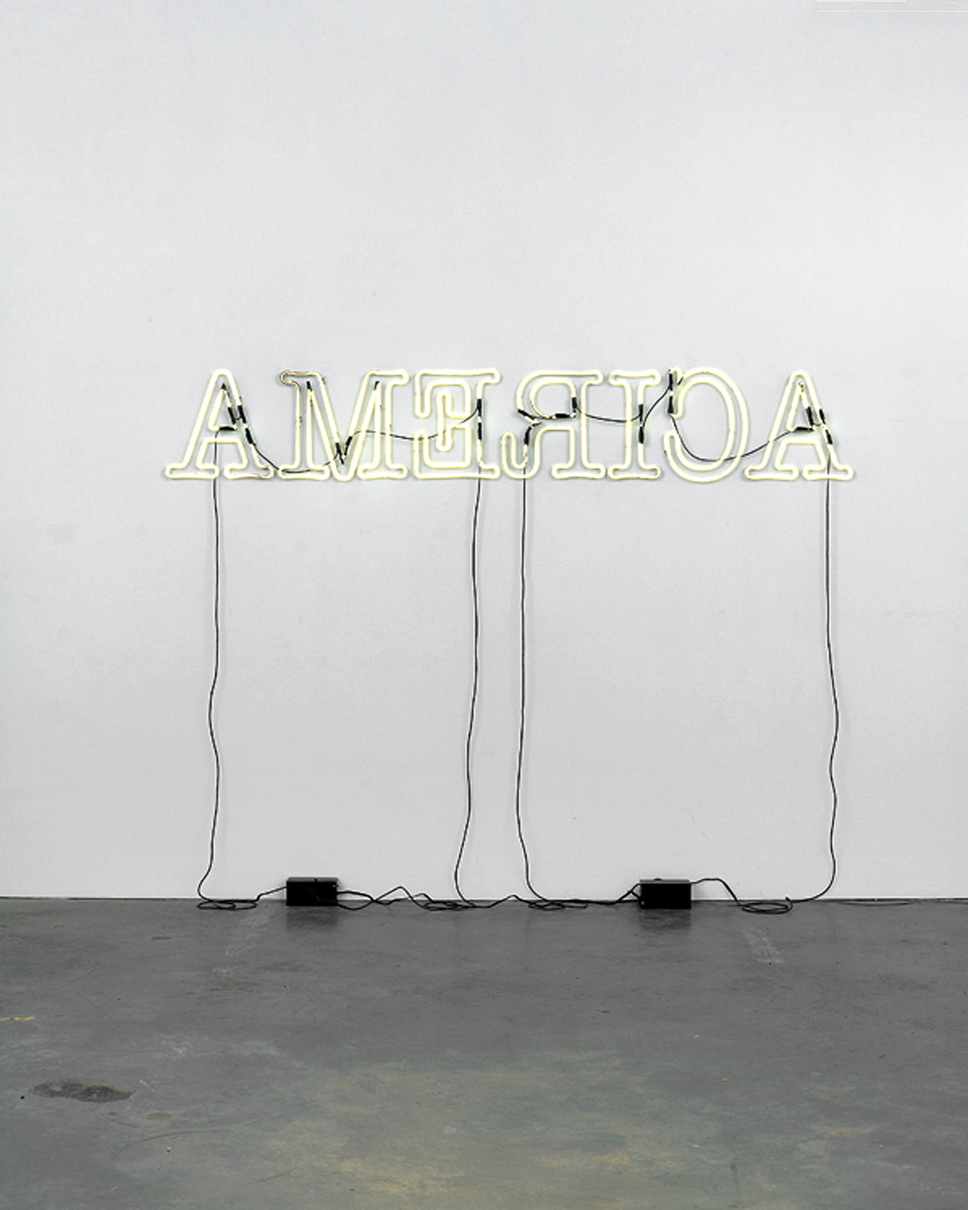 America in neon letters.