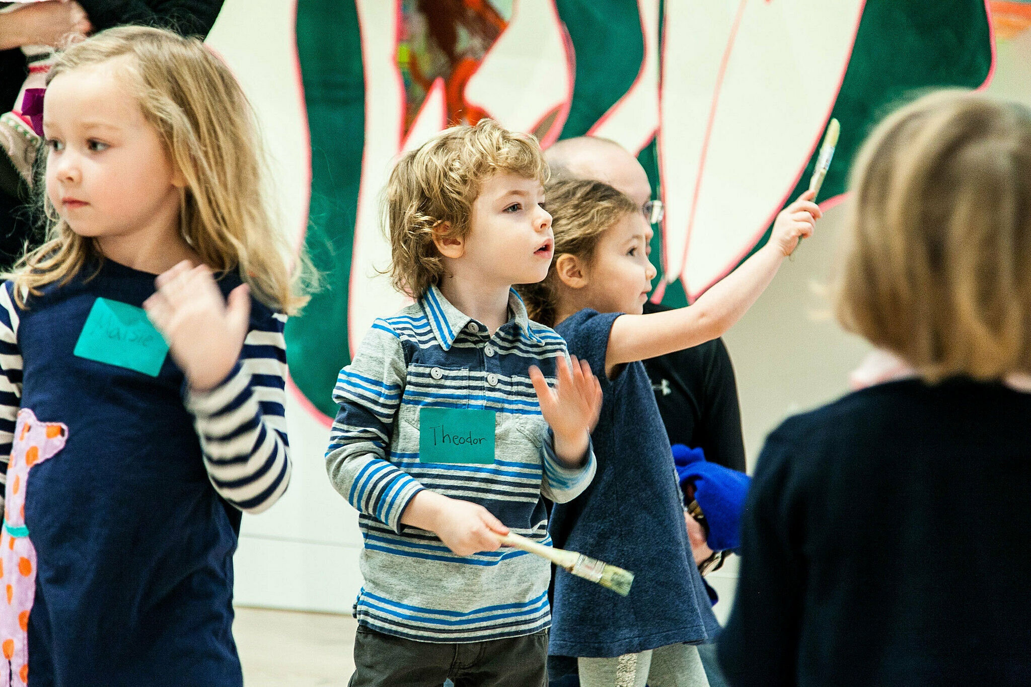 Children on a tour in the galleries