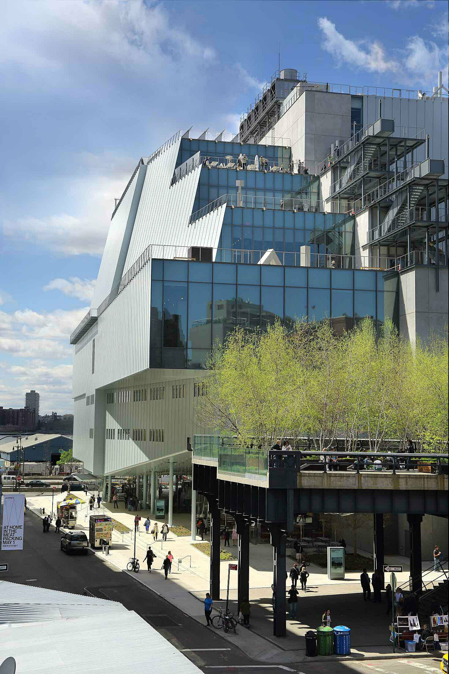 The exterior of the Whitney Museum of America Art as seen from Gansevoort street