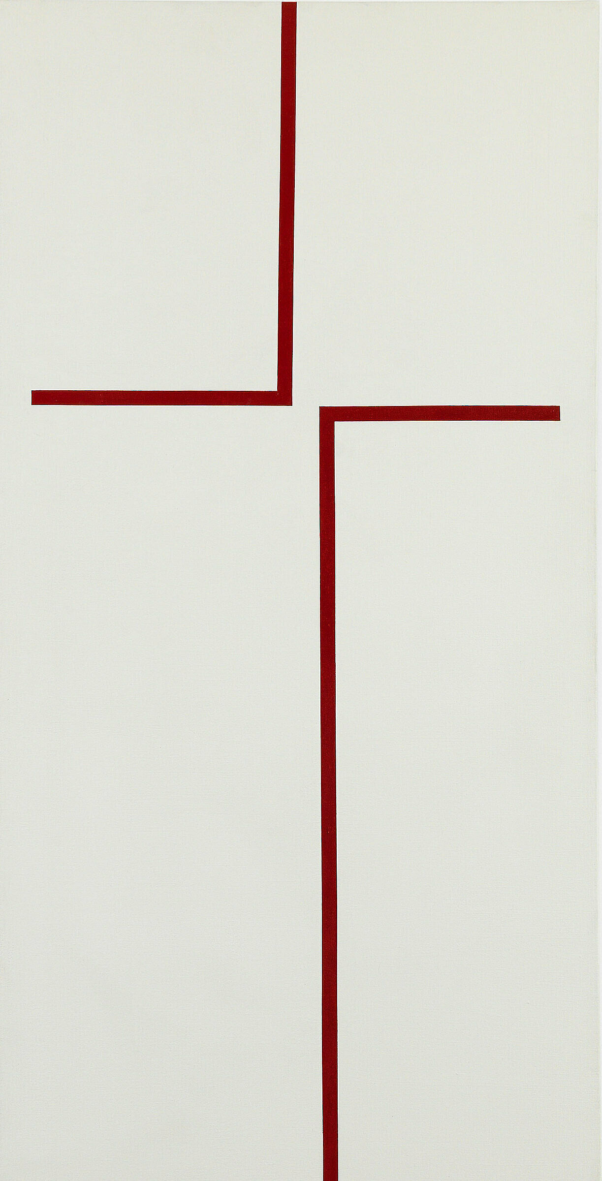 An abstract work by Carmen Herrera.