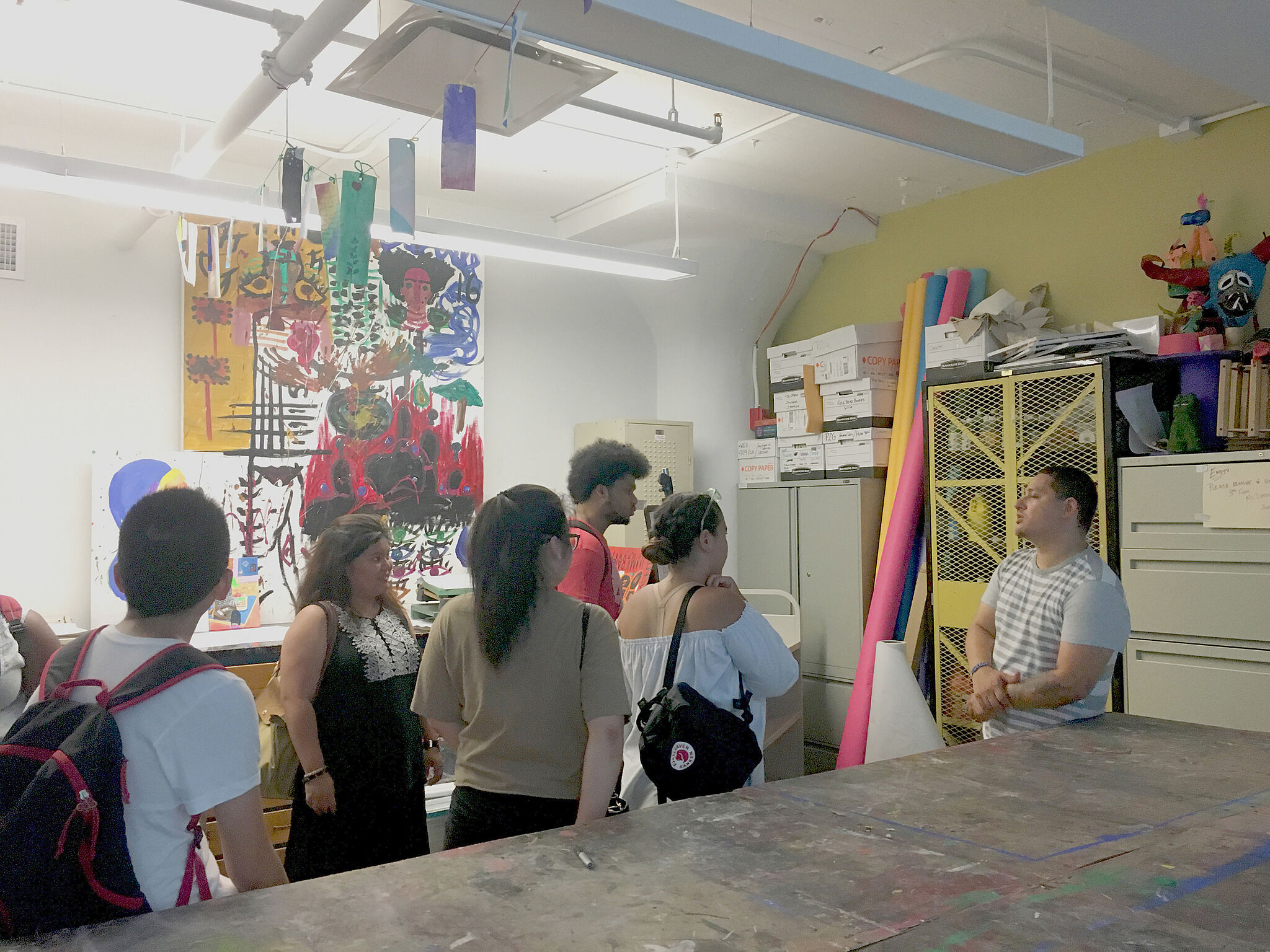 students in a artist studio