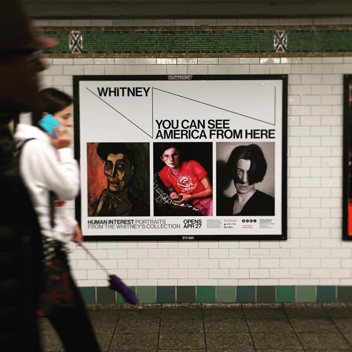 subway advertisement for Human Interest exhibition