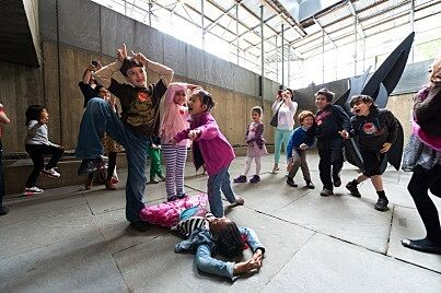 students participate in movement activity