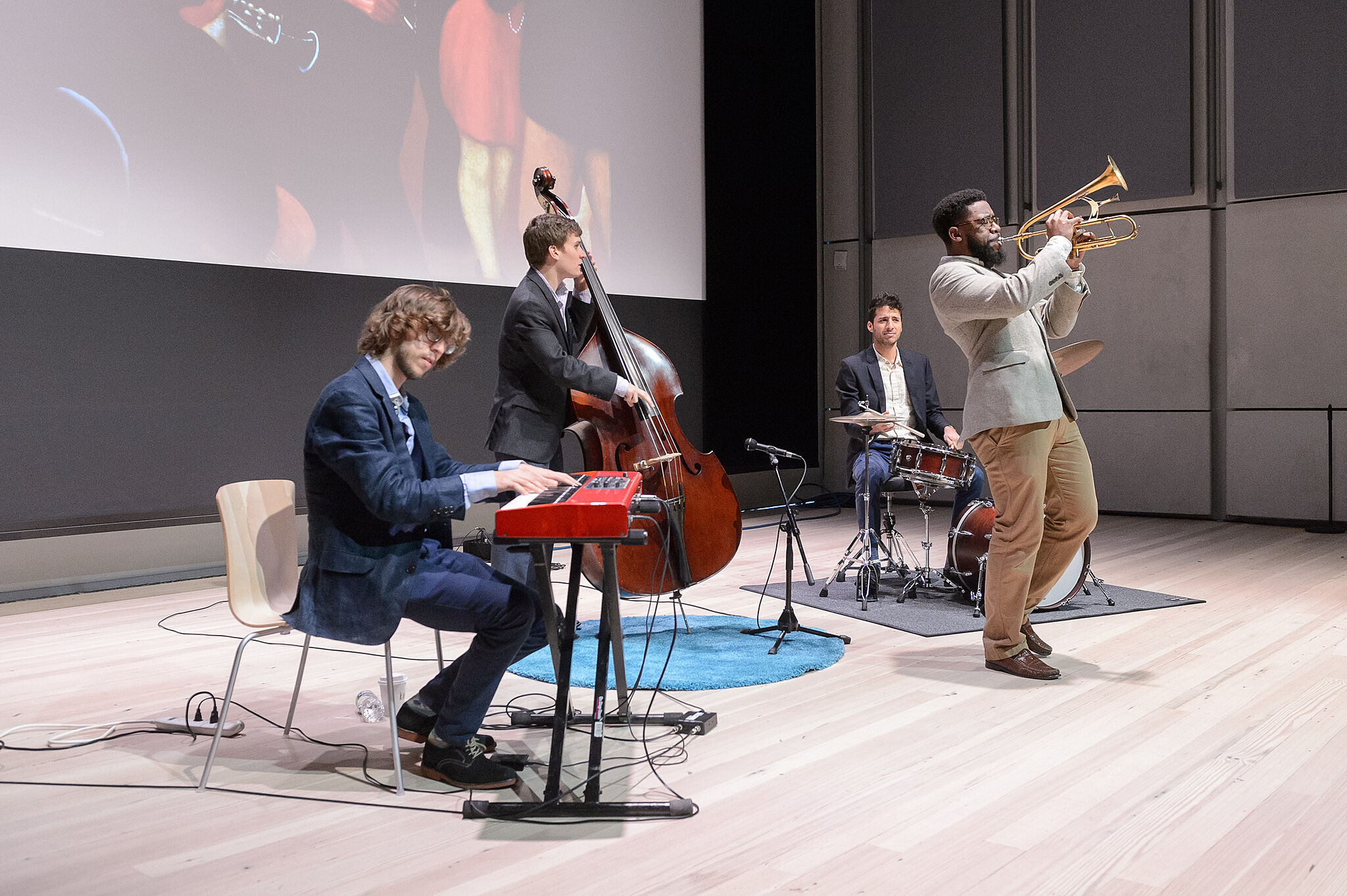 jazz musicians playing on stage