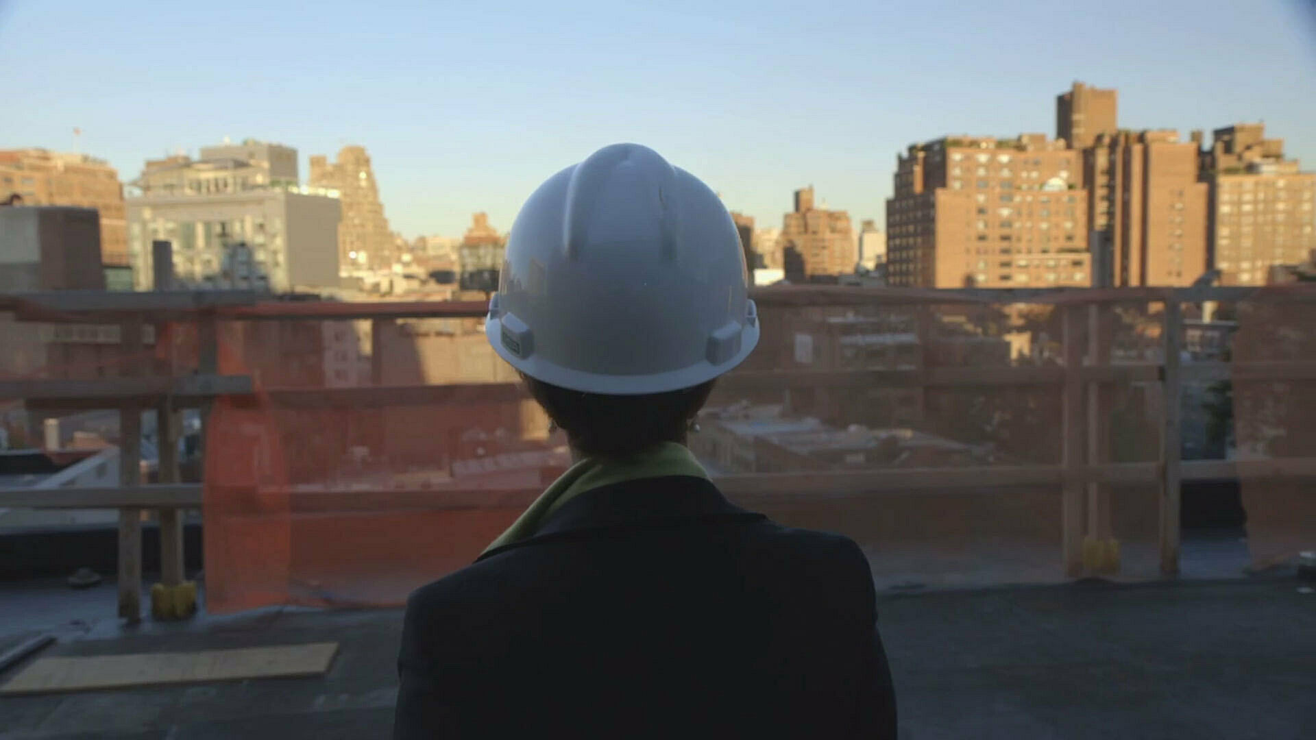 Video of construction of the Whitney Museum.