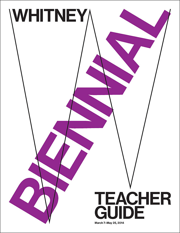 Biennial teacher guide poster.