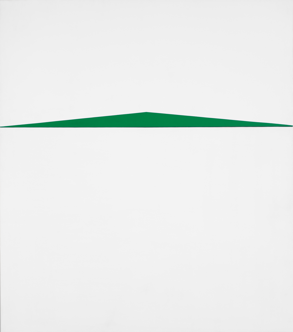 White and green artwork by Carmen Herrera.