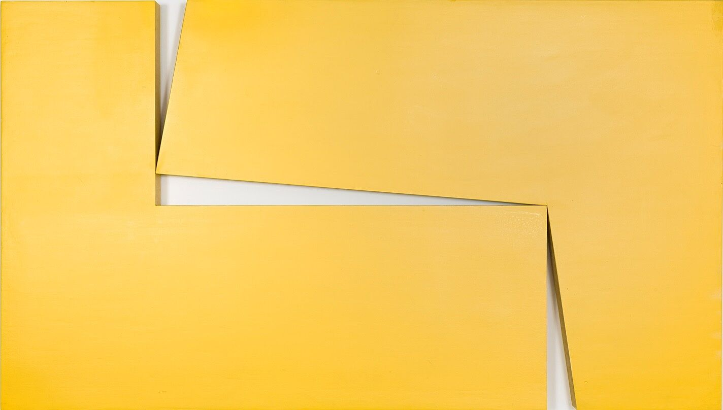 Yellow artwork by Carmen Herrera.