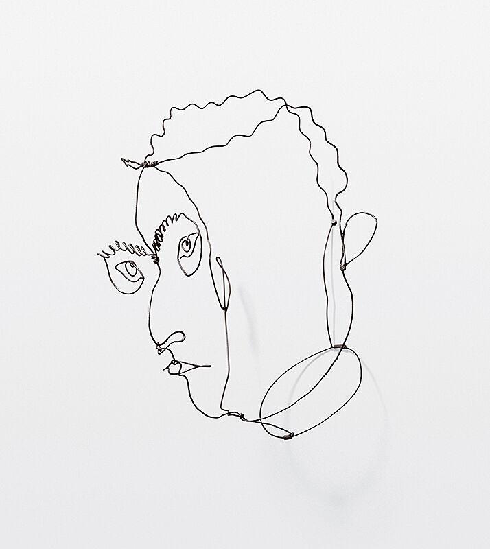 Portrait of a face by Calder.