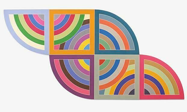 Artwork by Frank Stella.