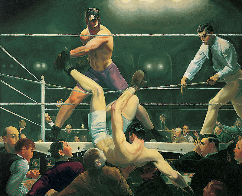 Painting of boxers by George Bellows.