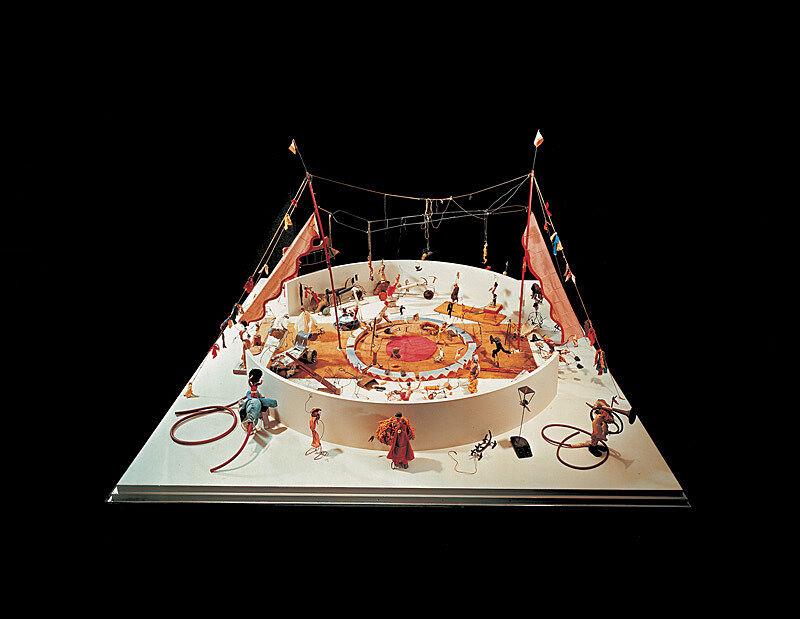 Miniature circus scene.