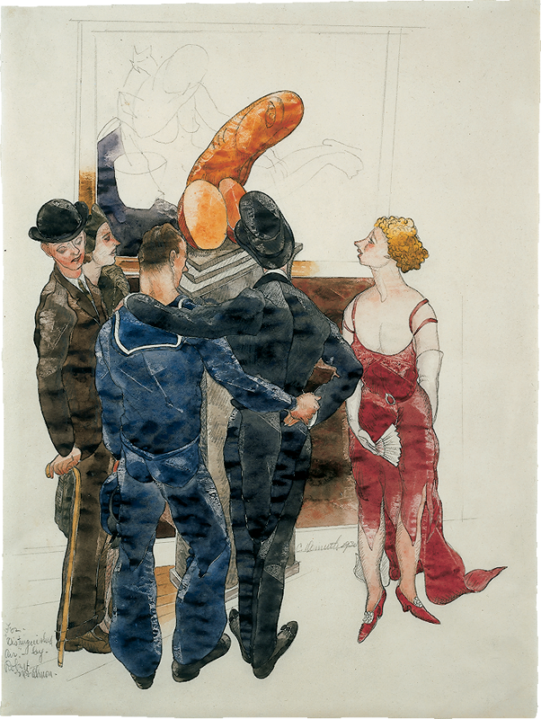 Artwork by Chares Demuth featuring people in a room.