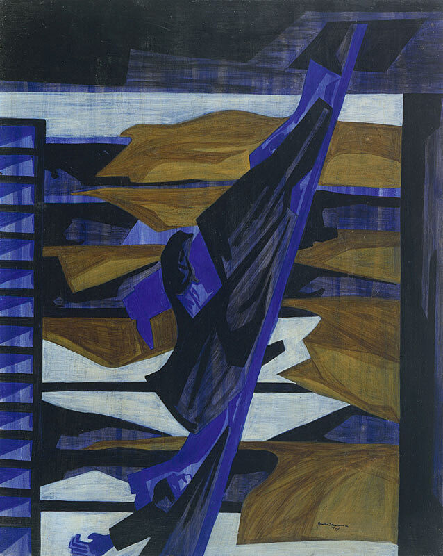 Abstract art by Jacob Lawrence.