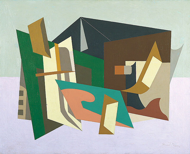 Abstract art by Stuart Davis.