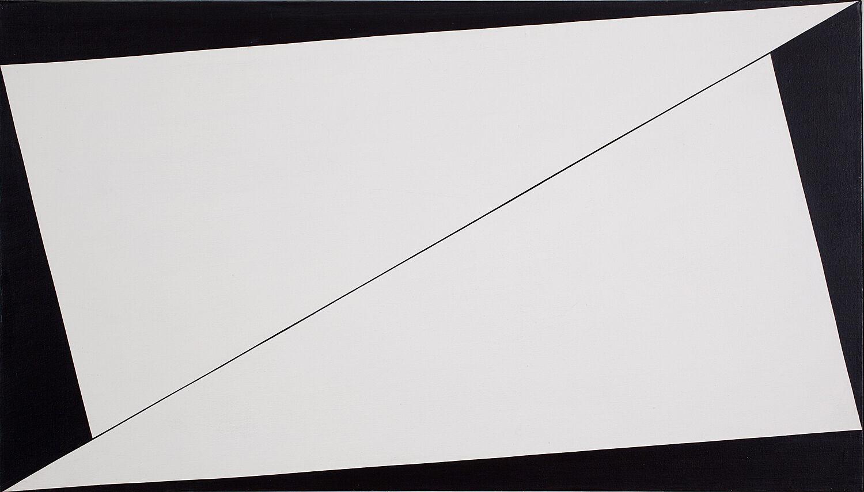 A black and white artwork by Carmen Herrera.