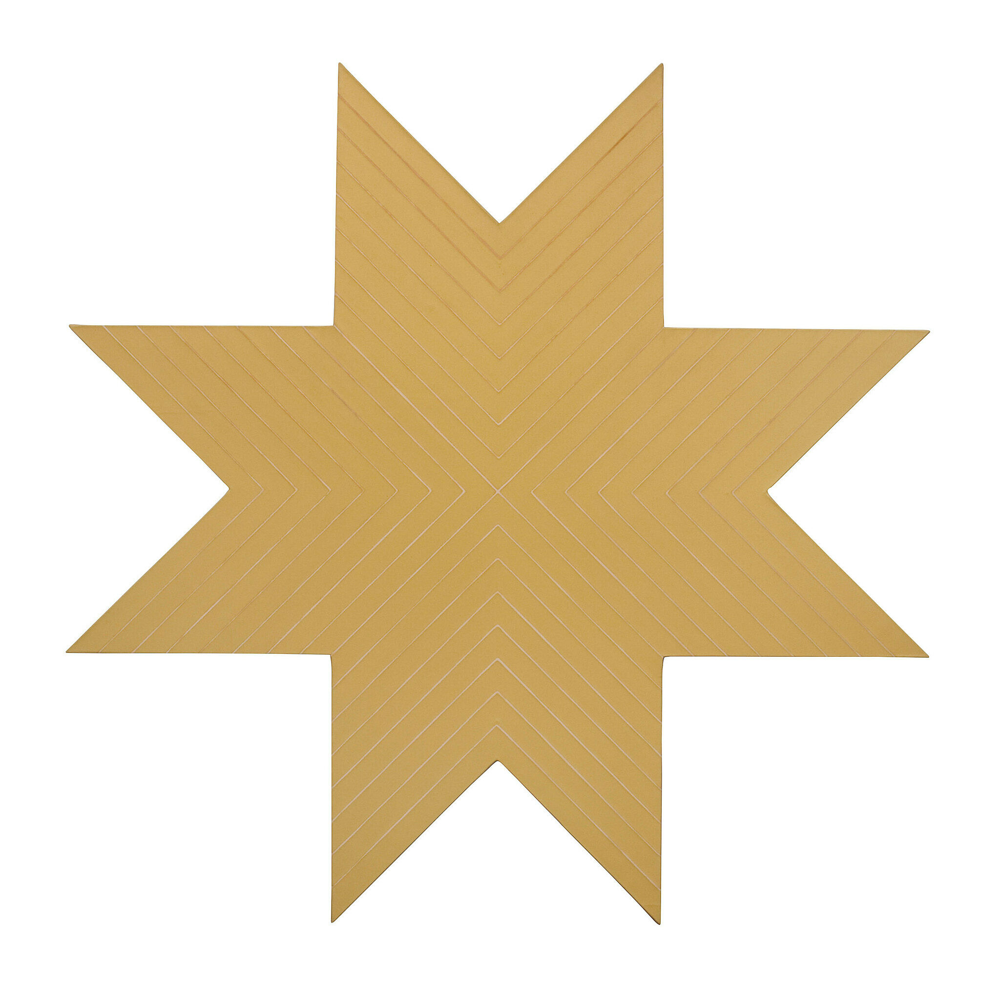 A golden star shape on a white background.