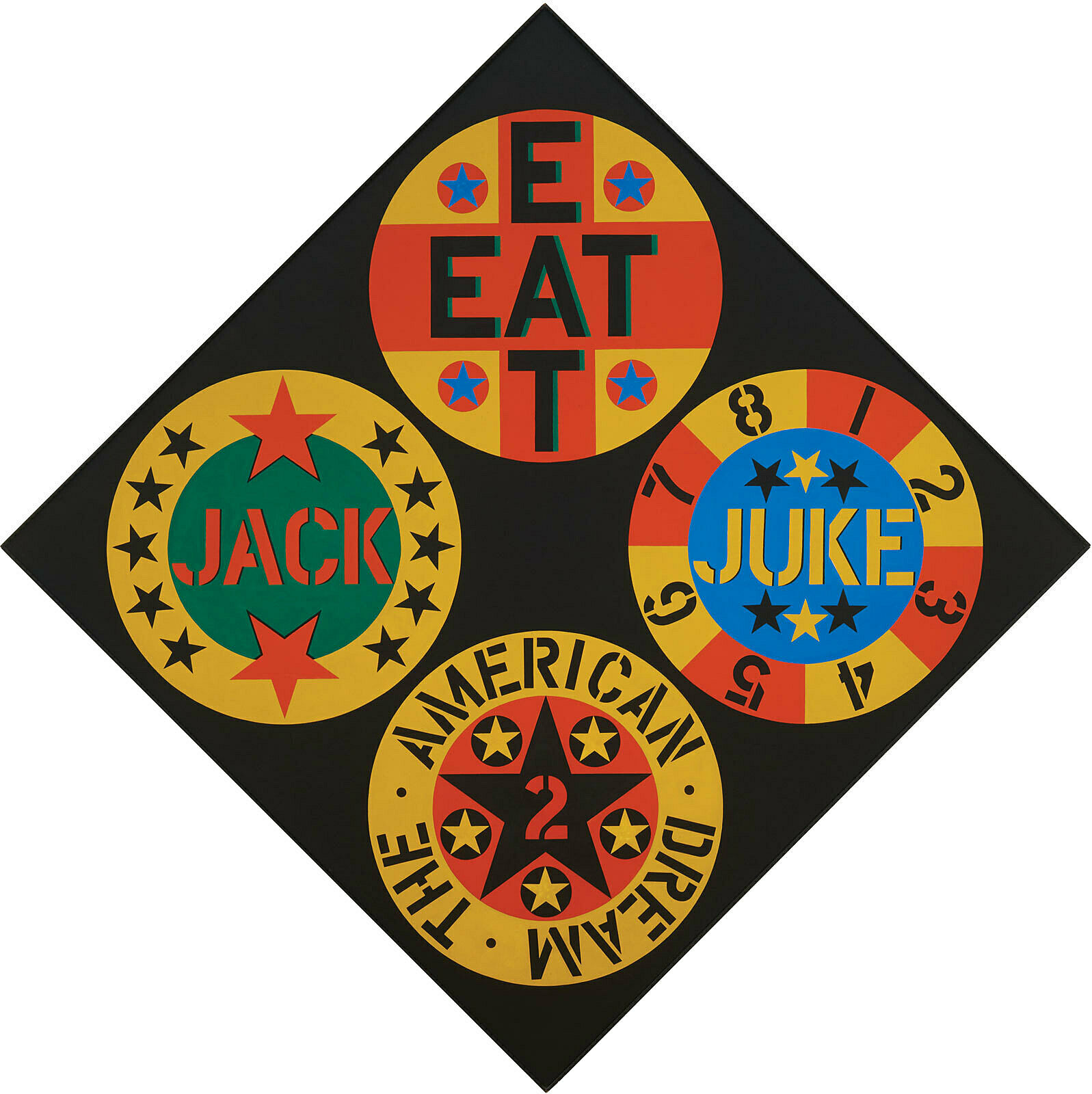 Artwork by Robert Indiana.